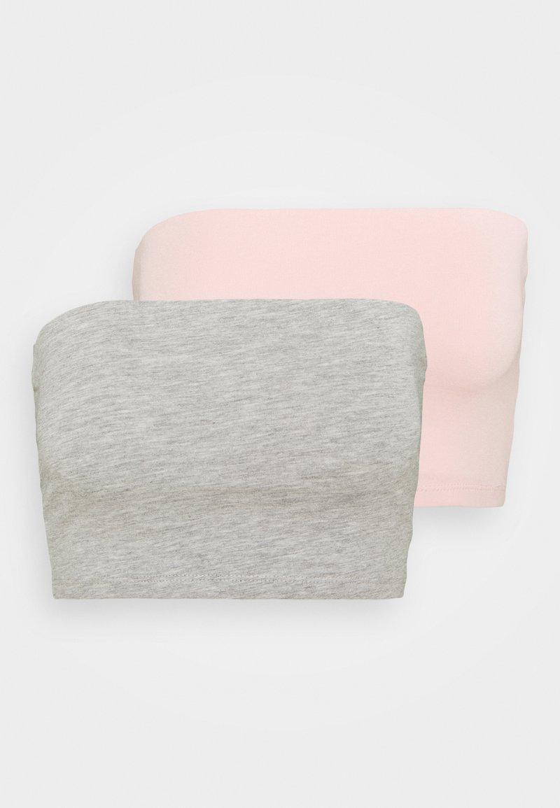 Gina Tricot - MILABANDEAU 2 PACK - Top - ligth grey/rose quartz
