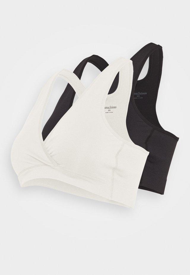 MLCROSSY BRA 2 PACK - Bustier - black/snow white