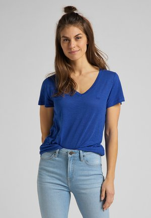 Print T-shirt - surf blue