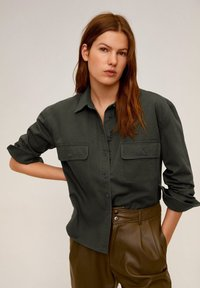 Mango - BROKEN - Button-down blouse - khaki - 0