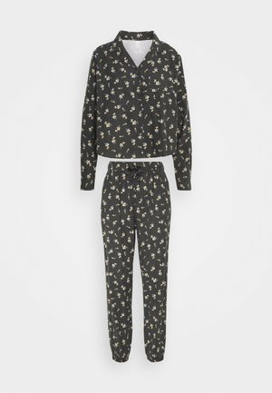 SLEEP PANT SET - Pyjama set - spriggy washed black