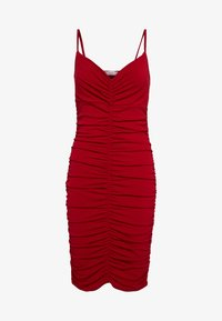 WAL G. - RUCHED STRAPPY DRESS - Cocktailkjole - red - 4