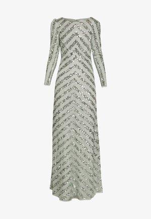 BOAT NECK STRIPE MAXI DRESS - Suknia balowa - green