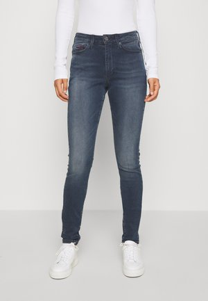SYLVIA SUPER - Jeans Skinny Fit - raven dark blue stretch