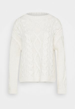 CABLE  - Pullover - winter natural white