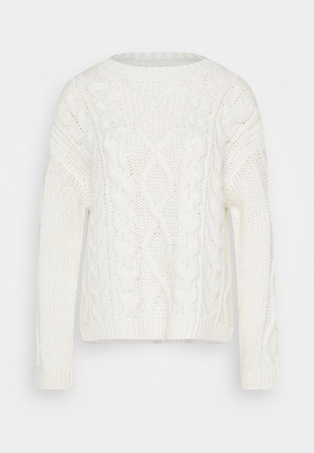 CABLE  - Maglione - winter natural white