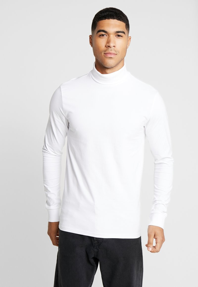 Only & Sons - ONSESSAY ROLLNECK TEE - Long sleeved top - white