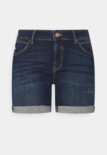 PIXIE - Denim shorts - dark brushed milan