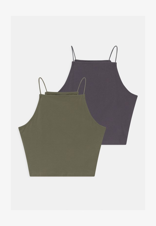 SPAGHETTI 2 PACK - Topper - dark grey/khaki