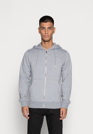JESOFT BASIC ZIP HOOD - Zip-up sweatshirt - light grey melange