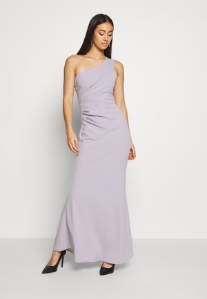RUCHED ONE SHOULDER DRESS - Galajurk - lilac