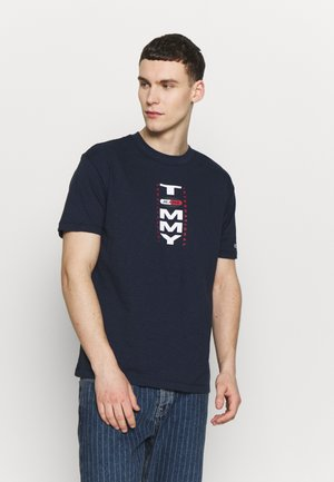 VERTICAL BACK LOGO TEE - T-shirt z nadrukiem - twilight navy
