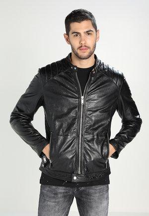 DYLAN - Kožená bunda - black