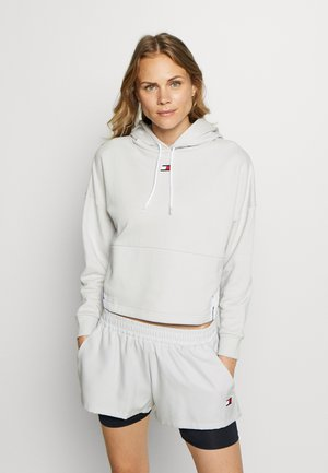 CROPPED TAPE HOODY - Sweat à capuche - grey