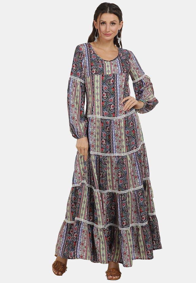 Długa sukienka - flower print