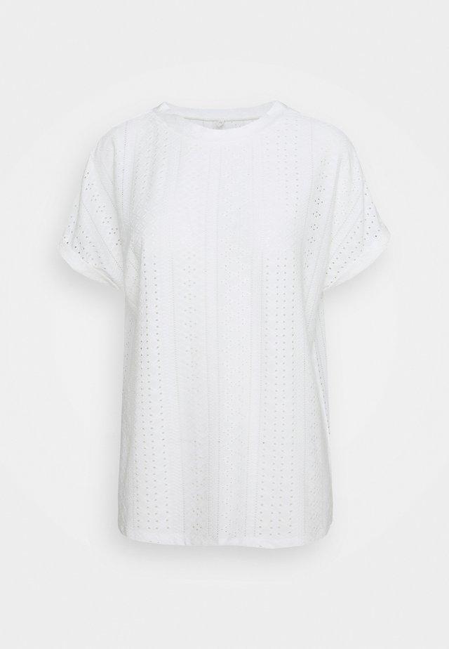 ONLIDA O NECK - Print T-shirt - cloud dancer