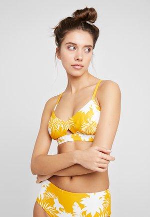 WILD TROPICS HYBRID BRALETTE - Bikini top - saffron