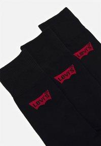 Levi's® - REGULAR CUTBATWING LOGO 3 PACK - Chaussettes - jet black - 1