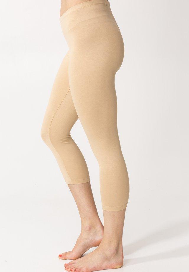 Leggings - Stockings - beige