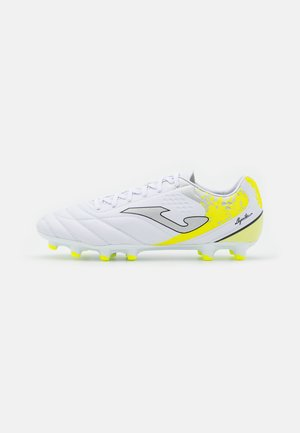 AGUILA - Moulded stud football boots - white/yellow