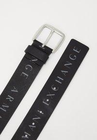 Armani Exchange - BELT - Pásek - black - 2