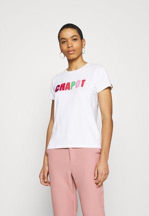Print T-shirt - cream white