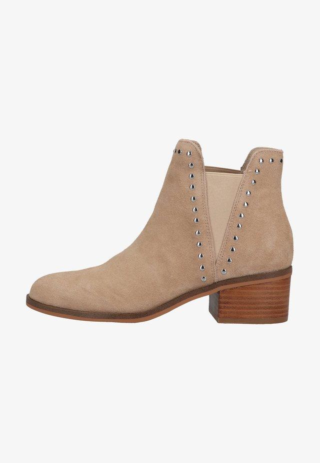 STEVE  - Boots à talons - nude suede