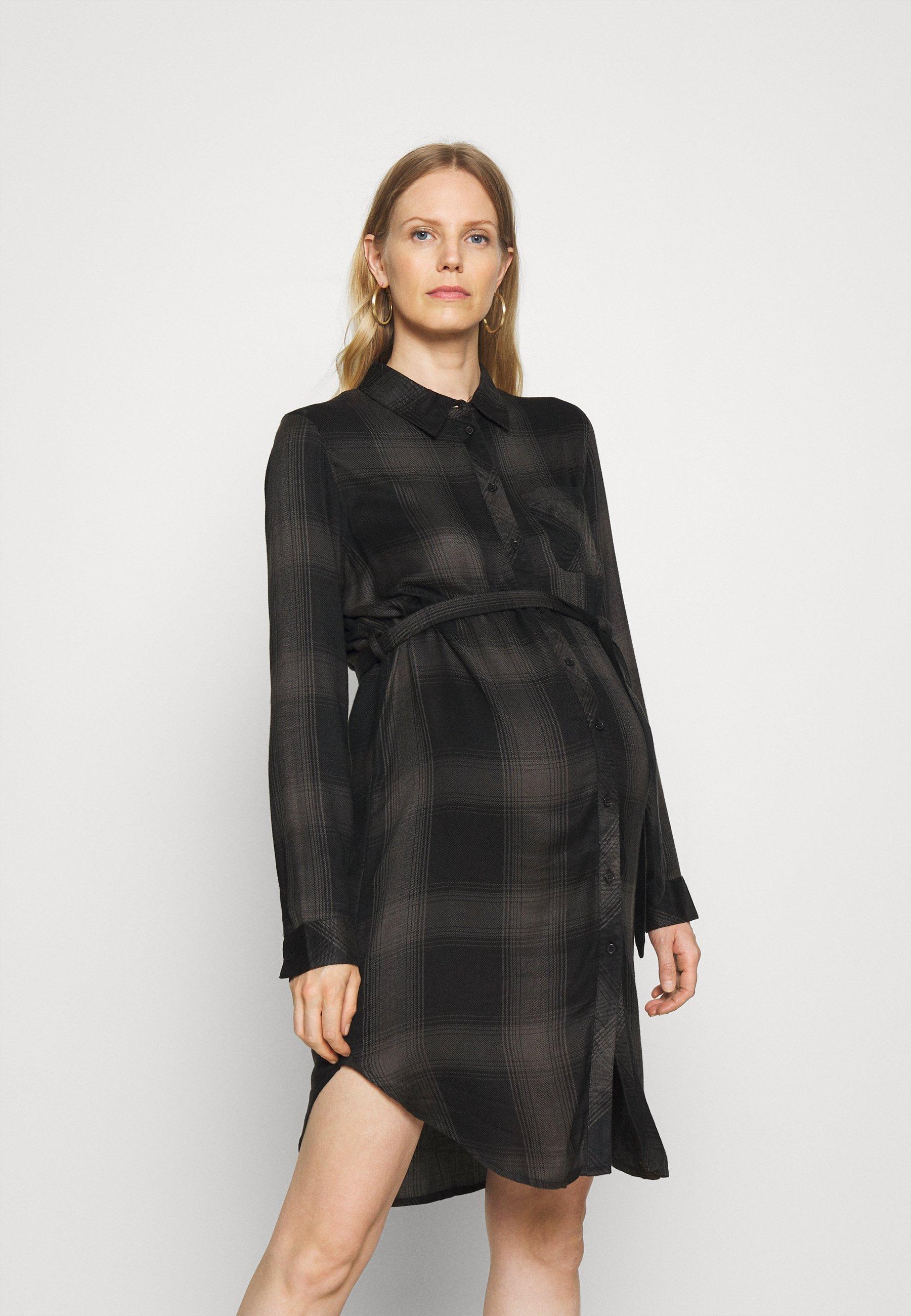 Mujer OLMRILEY LIFE CHECK DRESS - Vestido camisero
