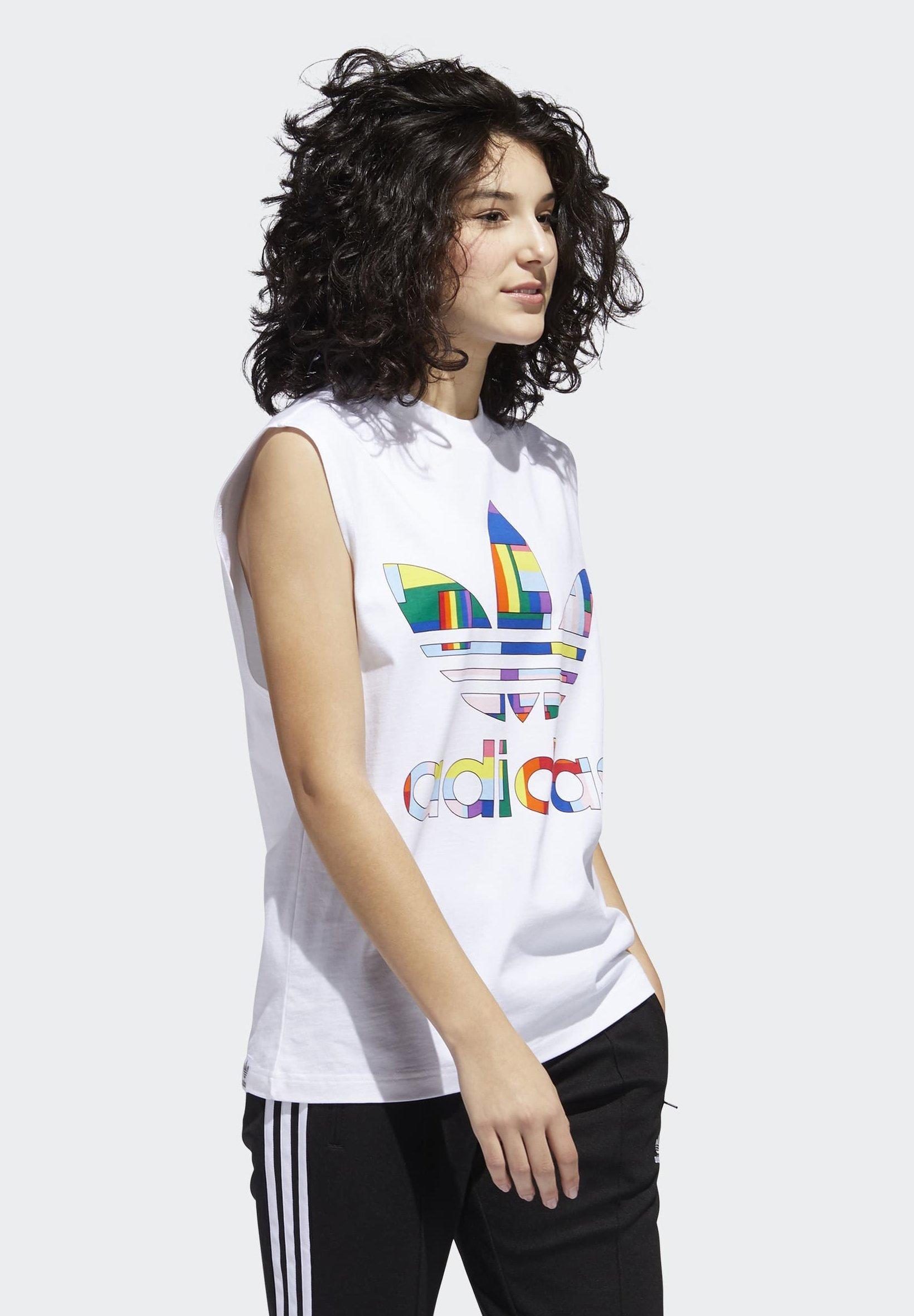 adidas Originals PRIDE FLAG FILL TANK TOP - Top - white g878N