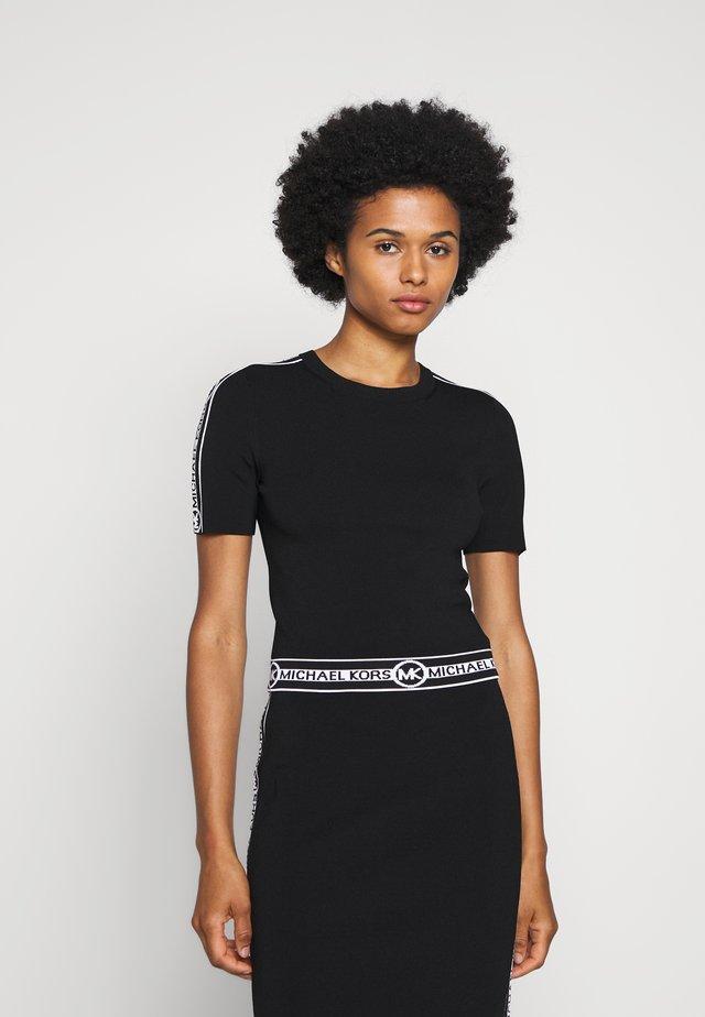 LOGO CROP CREW - T-shirt imprimé - black