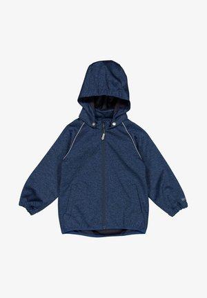 Soft shell jacket - blue melange