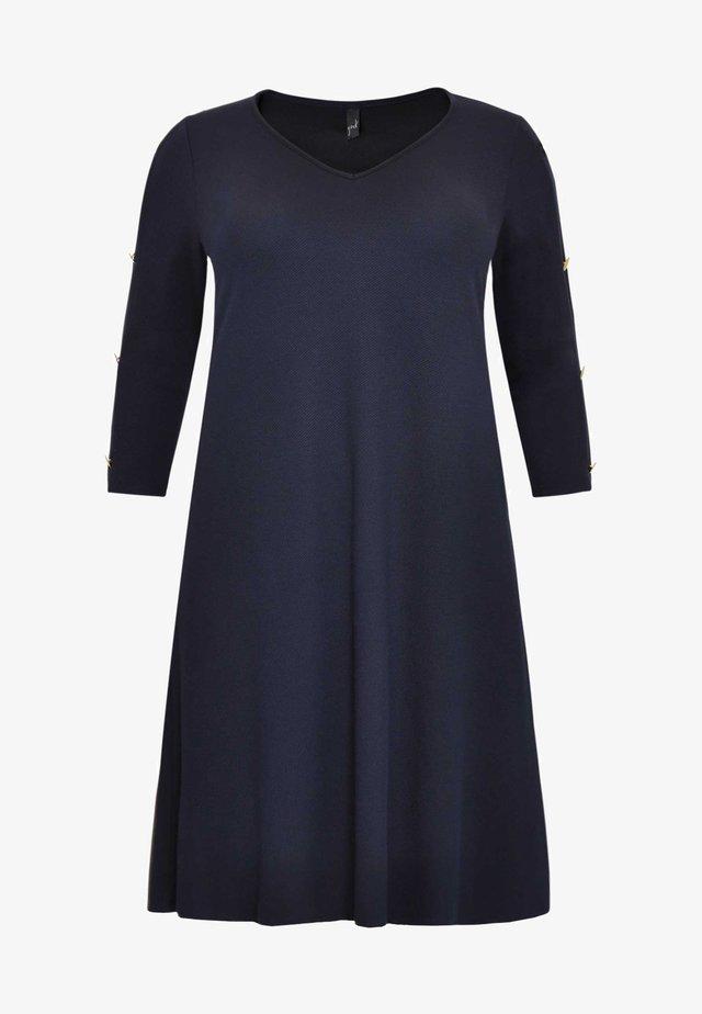 WITH LONG SLEEVES - Korte jurk - blue