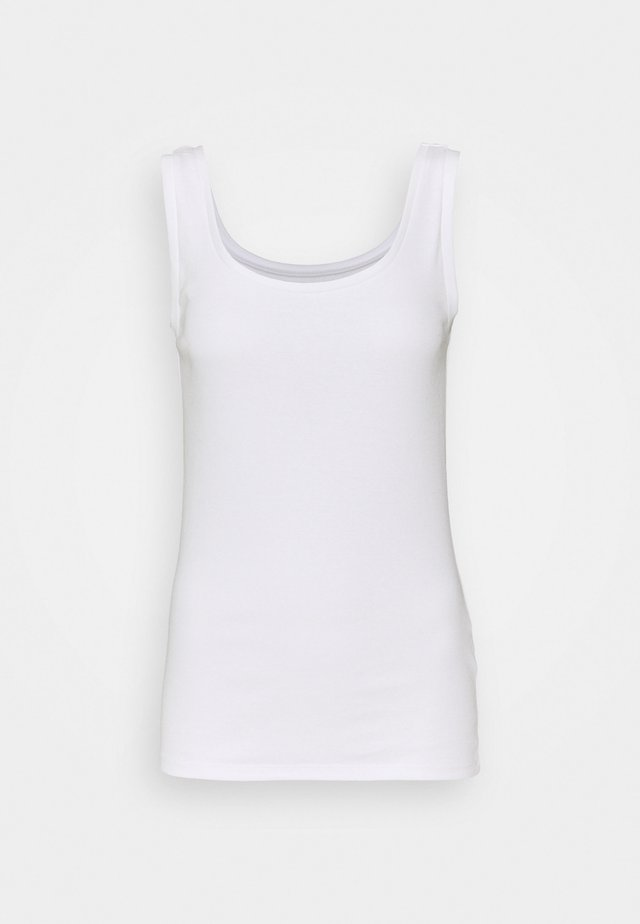 SCOOP VEST - Top - white
