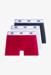 Champion - BOXER LOGO 3 PACK - Pants - white/red/dark blue - 3