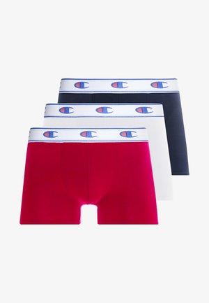 BOXER LOGO 3 PACK - Boxerky - white/red/dark blue