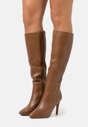 EFFINA - High heeled boots - cognac