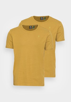 BASE R T S\S 2 PACK - Basic T-shirt - gold olive