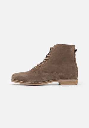 LEATHER - Bottines à lacets - taupe