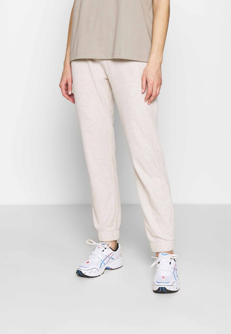 ONLY - ONLNELLA PANTS - Tracksuit bottoms - pumice stone