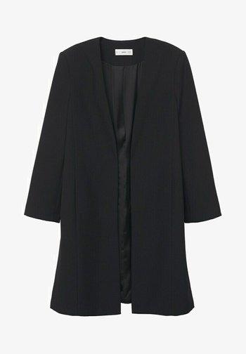 MIT SCHULTERPOLSTERN - Short coat - schwarz