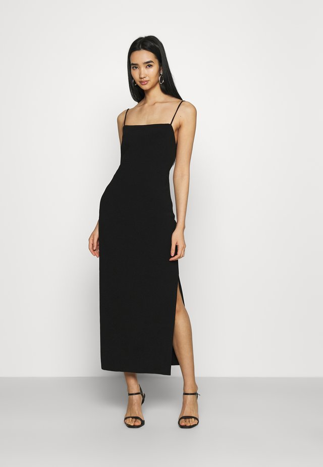 HANA MIDI DRESS - Etuikjole - black