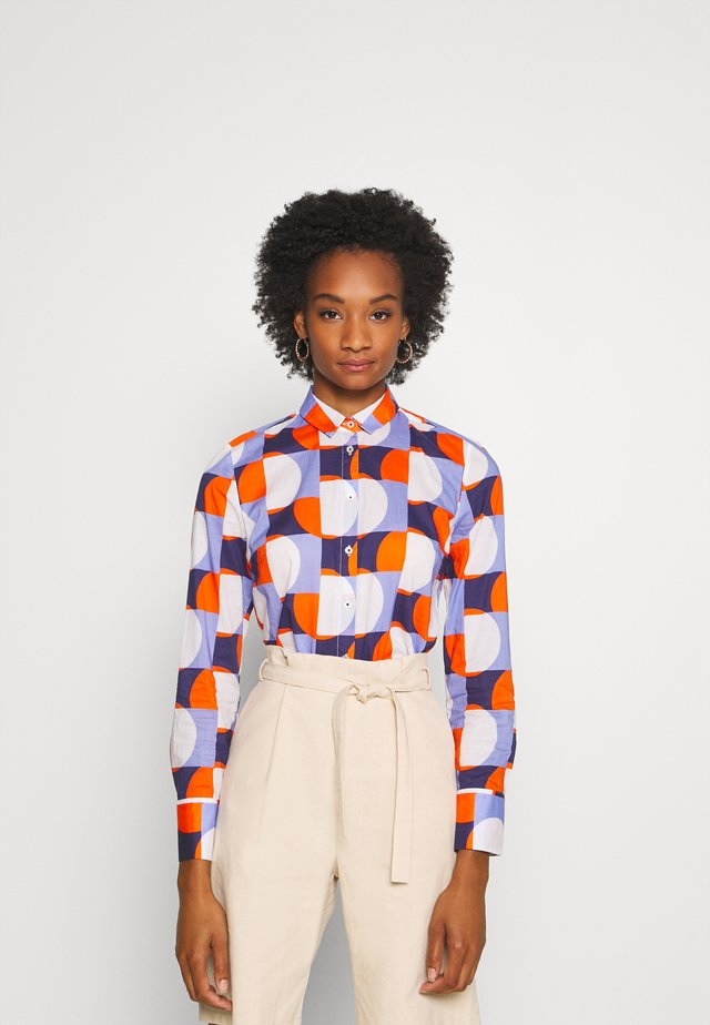 Blouse - blue/orange