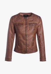 BONOBO Jeans - Chaqueta de cuero sintético - marron clair - 4