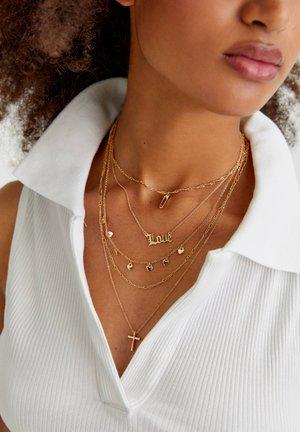 METALLIC HALSKETTEN LOVE - Necklace - gold-coloured