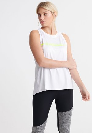 SUPERDRY TRAINING GYM VEST TOPS - Top - optic