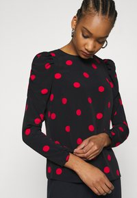 Dorothy Perkins - SPOT STABLE PUFF LONG SLEEVE - Long sleeved top - red - 0