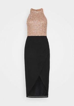 ASTON AVA WRAP DRESS - Cocktail dress / Party dress - mocha/black