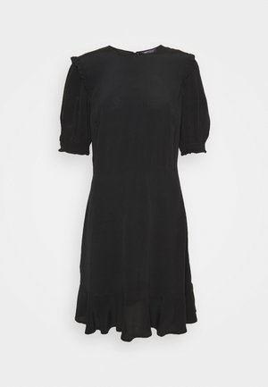 FRILL SKATER MINI - Korte jurk - black