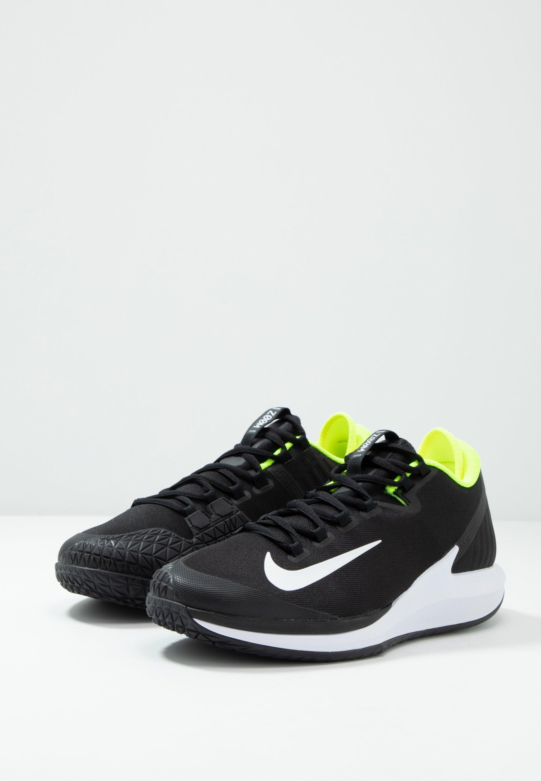 Il più grande fornitore Scarpe da uomo Nike Performance COURT AIR ZOOM Scarpe da tennis per tutte le superfici black/white/volt