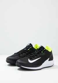 Nike Performance - COURT AIR ZOOM - Multicourt tennis shoes - black/white/volt - 2